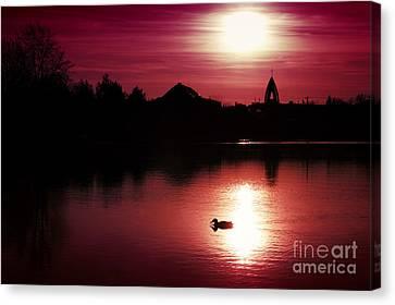 Sunset Canvas Print by Martin Dzurjanik