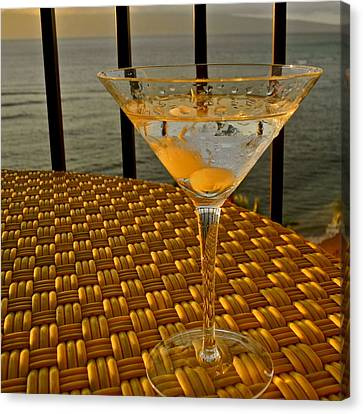Sunset Martini In Maui I Canvas Print by Kirsten Giving