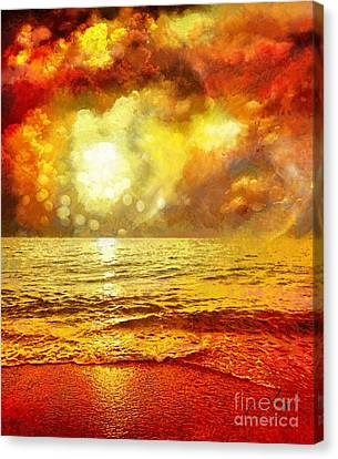 Sunset Canvas Print by Mo T
