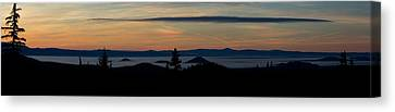Sunset Near Mt. Bachelor Canvas Print by Twenty Two North Photography