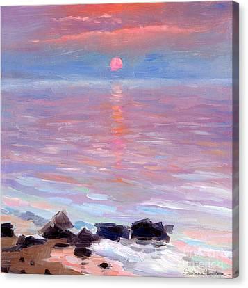 Sunset Ocean Seascape Oil Painting Canvas Print by Svetlana Novikova