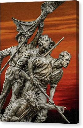 Sunset Of The Confederacy Pickett's Charge Canvas Print by Randy Steele