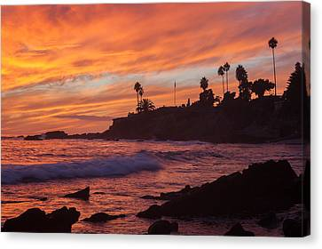 Sunset Off Laguna Beach Canvas Print