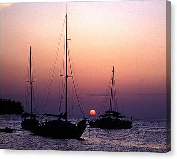 Canvas Print featuring the photograph Sunset Off Simonton Street 14e by Gerry Gantt