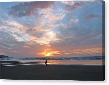 Sunset On 90 Mile Beach Canvas Print by Judy Watson