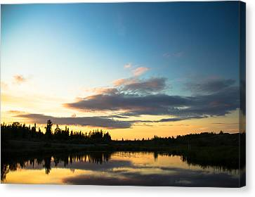 Sunset On A Lake Canvas Print