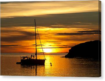Canvas Print featuring the photograph Sunset On Bowman Bay by Cheryl Perin