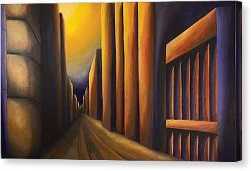 Sunset On De Maisonneuve Canvas Print by Duane Gordon