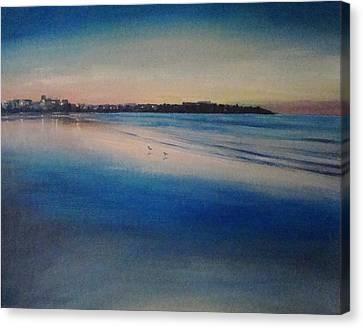 Sunset On Hampton Beach Canvas Print by Mark Haley