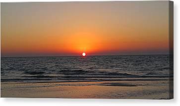 Sunset On Longboat Key Canvas Print by Loretta Luglio