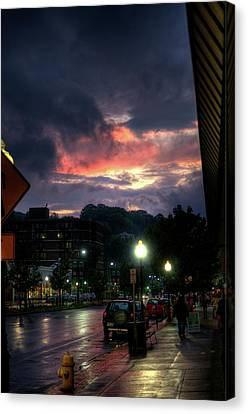 Western Ma Canvas Print - Sunset On Main by Joshua Volff