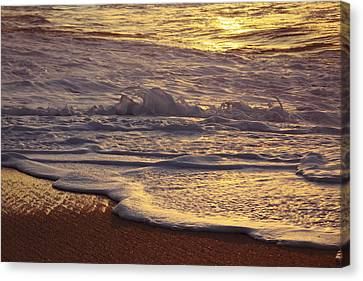 Sunset On Small Wave Canvas Print by Vince Cavataio - Printscapes