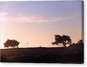Monteray Bay Canvas Print - Sunset On Spyglass by Gerry Fortuna