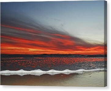 Sunset On The Edge Canvas Print