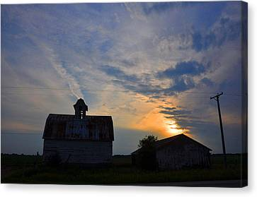 Sunset On The Farm Canvas Print by Daniel Ness