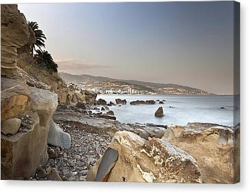 Sunset On The Mediterranean Canvas Print by Joana Kruse