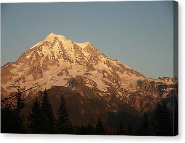 Sunset On The Mountain Canvas Print
