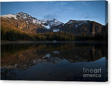 Water Fall Canvas Print - Sunset On The Mountains by Jeffrey Kolker
