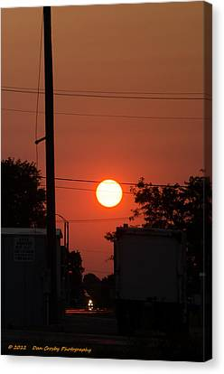 Sunset On The Up Canvas Print by Dan Crosby