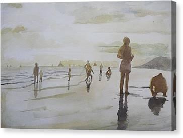 sunset on Vung Tau beach Canvas Print by Vuong Anh Tuan