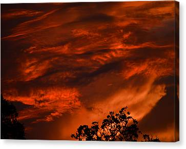 Canvas Print featuring the photograph Sunset Over Altoona by DigiArt Diaries by Vicky B Fuller