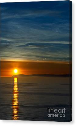 Sunset Over Catalina Canvas Print