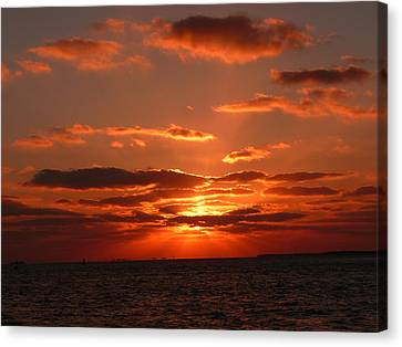 Sunset Over Key West Canvas Print by Jo Sheehan