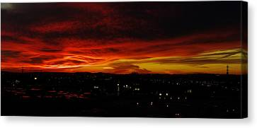 Sunset Over L.a. Canvas Print