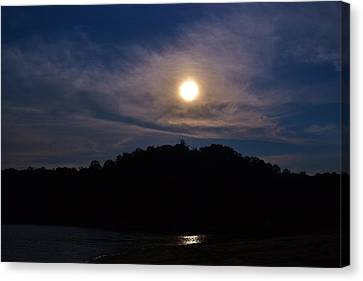 Sunset Over Lake Lanier Ga Canvas Print by Marc Mesa