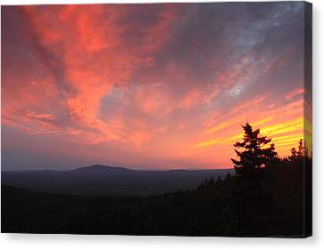 Sunset Over Mount Monadnock From North Pack Canvas Print by John Burk