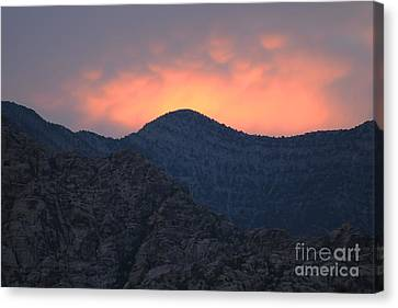 Sunset Over Red Rock Canvas Print by Art Whitton