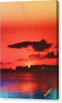 Sunset Over Three Lakes Canvas Print