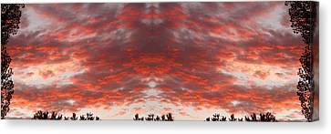 Sunset Panorama Psychedelic Trance Canvas Print by James BO  Insogna