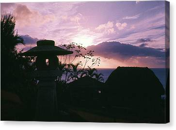 Canvas Print featuring the photograph Sunset Pupukea Oahu by Craig Wood