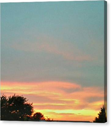 #sunset Redux #instadroid #andrography Canvas Print by Kel Hill