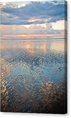 Jaco Canvas Print - Sunset Reflection - Small Ripples by Anthony Doudt