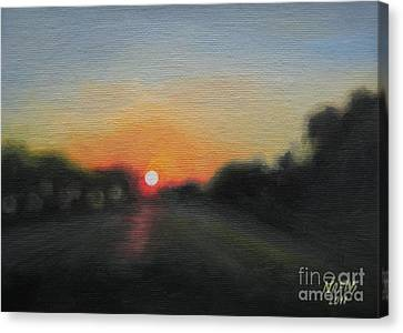 Sunset Road Canvas Print by Jindra Noewi