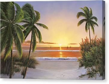 Sunset Sail Canvas Print by Diane Romanello