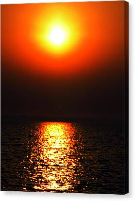 Canvas Print featuring the photograph sunset Santorini Greece by Colette V Hera  Guggenheim