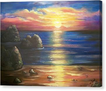 Sunset Seascape Canvas Print by Joni McPherson