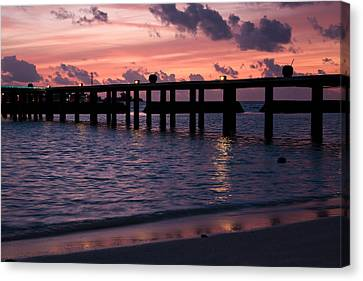 Canvas Print featuring the photograph Sunset by Shirley Mitchell