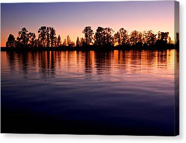 Canvas Print featuring the photograph Sunset Silhouette by Scott Holmes