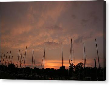 Sunset Sky Annapolis Canvas Print by Valia Bradshaw