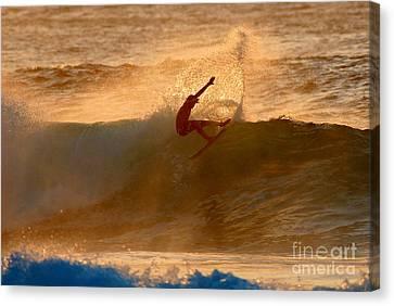 Sunset Slash Canvas Print by Paul Topp