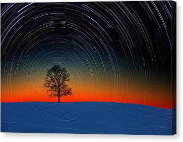 Sunset Star Trails Canvas Print