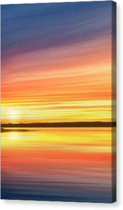 Sunset Stratas Canvas Print by Rod Seel