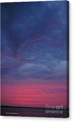 Canvas Print featuring the photograph Sunset Surprise by Tannis  Baldwin