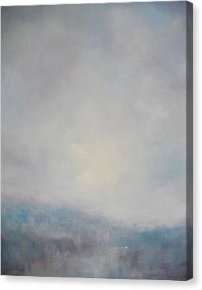 Sunset Through The Mist Over Stenbury Down Canvas Print by Alan Daysh