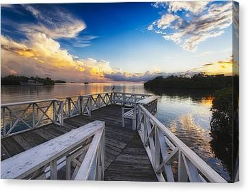 Sunset To Relax Canvas Print by George Oze