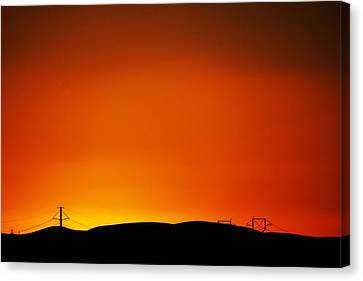 Sunset Towers Canvas Print by Michael Courtney